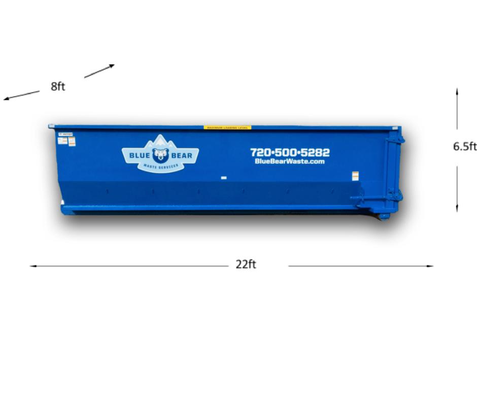 30 yard roll off dumpster dimensions - Blue Bear Waste
