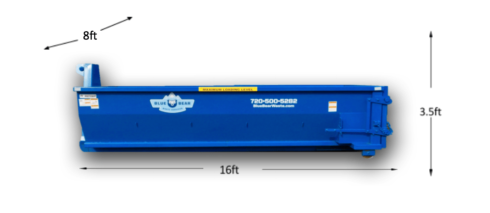 12 Yard Dumpster Rental - Blue Bear Waste